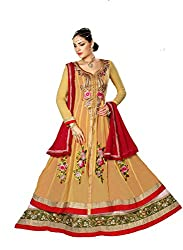 Styliner gorgeous floor lenght embroidery suit
