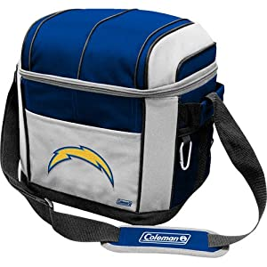 NFL San Diego Chargers 24 Can Soft Sided Carry Coleman Cooler by Licensed Products