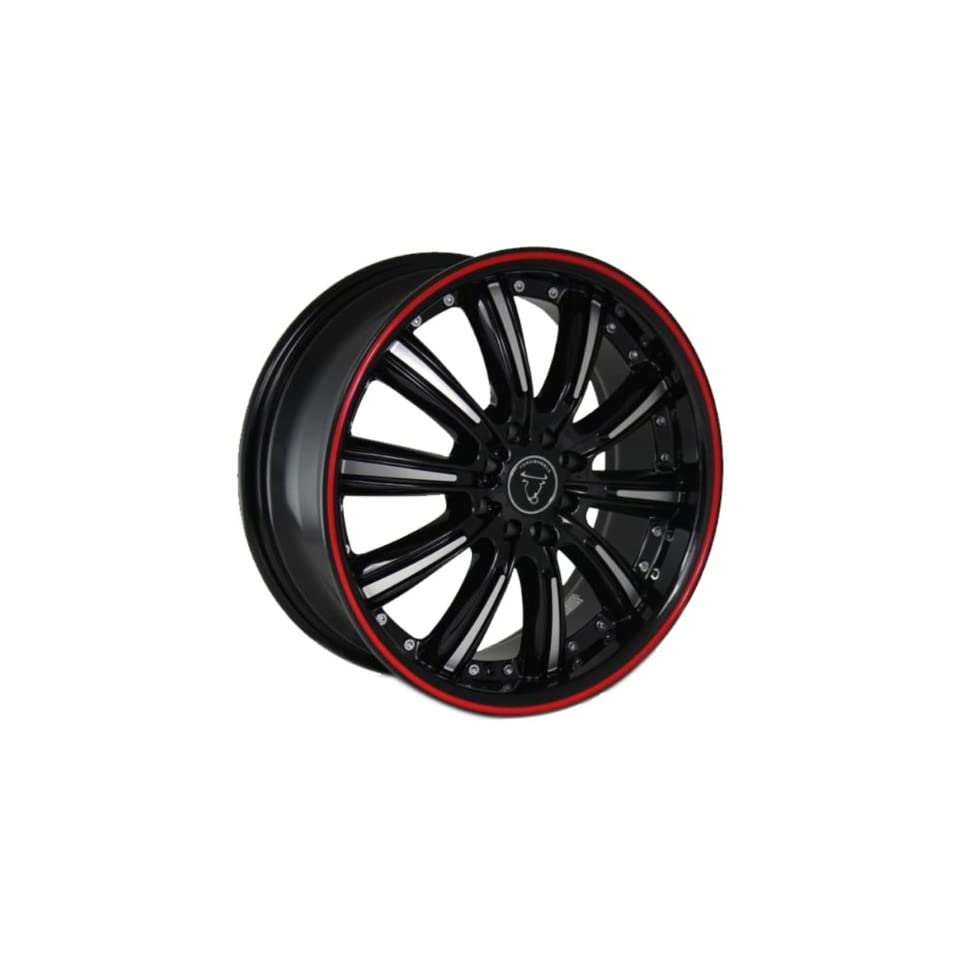 Toro Wheel 18 18x7.5 Infiniti Nissan Honda Toyota Matte Black Machined Red Line 8x100.10x100 114.3