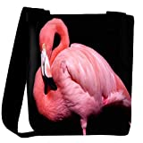 Snoogg Pink Swan Designer Womens Carry Around Cross Body Tote Handbag Sling Bags