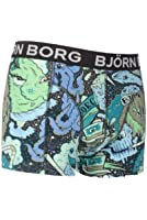 Mens 1 Pack Bjorn Borg Monsters Boxers Shorts In Phantom