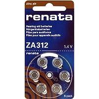 10 Packs (60 Batteries) Renata Swiss Designed American Made Size 312 Hearing Aid Batteries