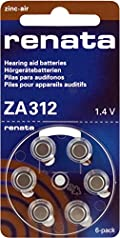 10 Packs (60 Batteries) Renata Swiss Designed American Made Size 312 Hearing Aid Batteries