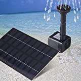 Magicfly Solar Panel Brushless Water Cycle Pump Pond Fountain Rockery Fountain, 9V 1.8W 200mA