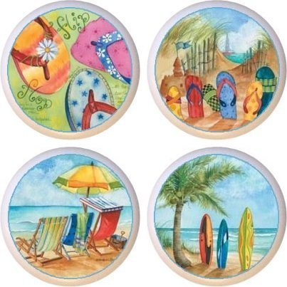 Beach At the Beach Drawer Pulls Knobs Set of 4