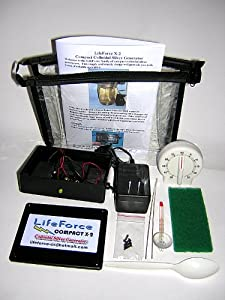 LifeForce Compact X-2 Colloidal Silver Generator Package