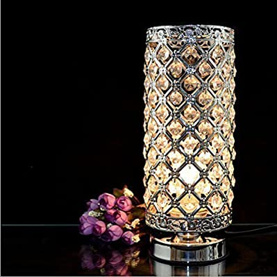 MC-29021 Crystal Silver Table Lamp