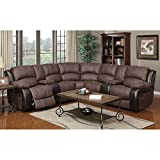 E-Motion Furniture Cypress and Inlay Dual Reclining Sectional
