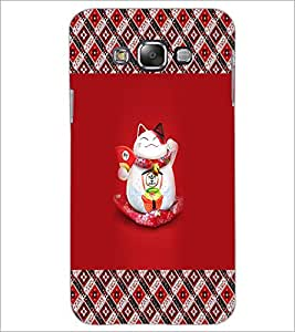 PrintDhaba Happy Kitty D-3033 Back Case Cover for SAMSUNG GALAXY A7 (Multi-Coloured)