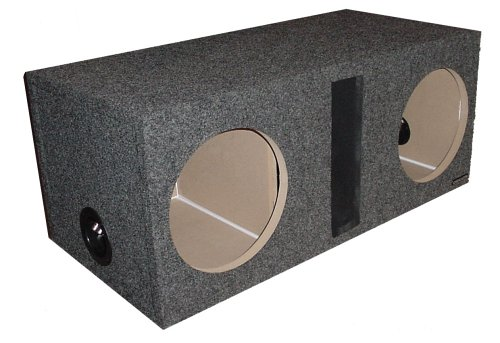 "R/T 300 Enclosure Series (324-12) - Dual Slot Vented 12"" Sub Bass Hatchback Speaker Box"