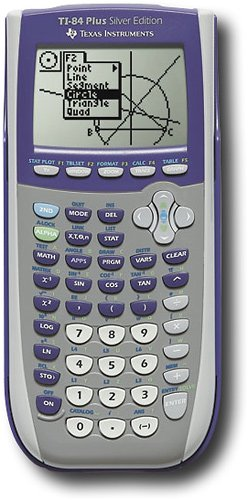Texas instruments ti-84 plus silver edition graphing calculator.