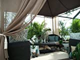Outdoor Gazebo Patio Drapes Mocha Semi Sheer 120
