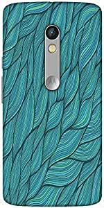 Snoogg Seamless Waves Texture Designer Protective Back Case Cover For Motorola Moto X Play