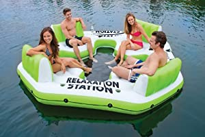 Buy Intex Pacific Paradise Relaxation Station Water Lounge 4-Person River Tube Raft by Intex