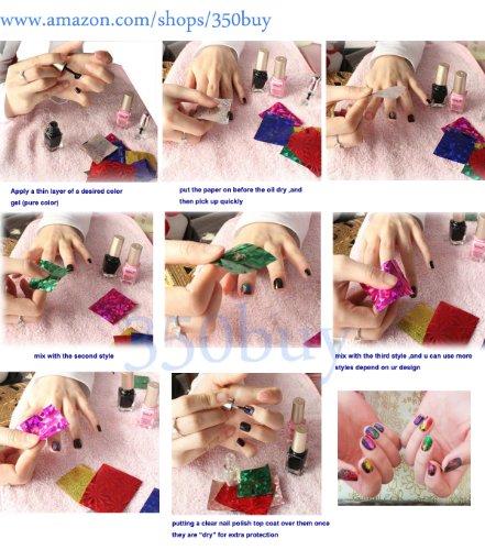 350buy 12 Rolls Mix Colors Nail Art Transfer Foil Set Tip Decoration New Fashion