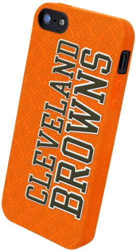 Special Sale Forever Collectibles Cleveland Browns Team Logo Silicone Apple iPhone 5 & 5S Case