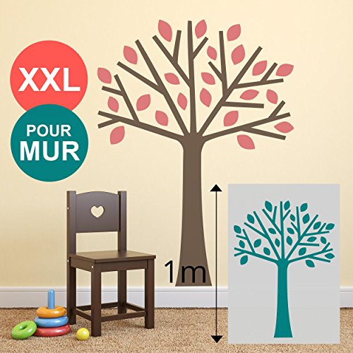 Grand pochoir 100 x 70 cm xl mural arbre pour mur chambre for Pochoir arbre
