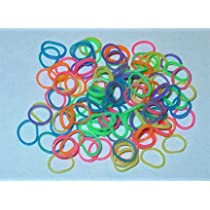 Latex Free Dog Grooming Bands by Fantasy Farm - 3/8 (9 mm) Rainbow 500 count