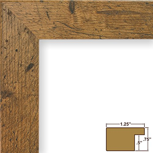 Craig Frames 26011 24 by 36-Inch Picture Frame, Smooth Wrap Finish, 1.26-Inch Wide, Distressed Light Walnut