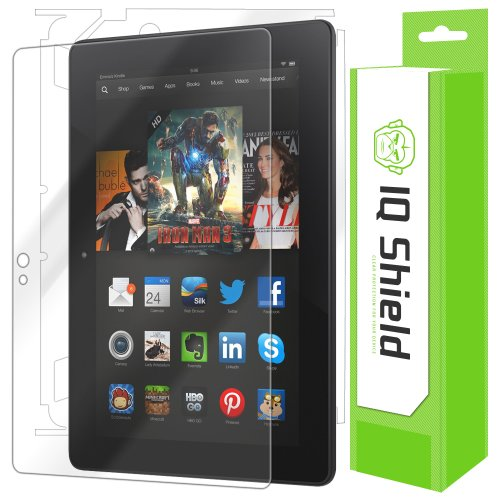 """Iq Shield Liquidskin - Amazon Kindle Fire Hdx 7"""" Screen Protector + Full Body (Front And Back) - High Definition (Hd) Ultra Clear Tablet Smart Film - Premium Protective Screen Guard - Extremely Smooth / Self-Healing / Bubble-Free Shield - Kit Comes With R front-98883"""