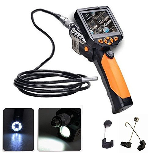"Flylinktech® Digital Videoscope Borescope Endoscope With 3.5"" Screen And 8.2Mm Head Up To 32G Support Tv Out Removal Monitor Inspection Camera"