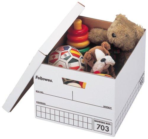 フェローズ バンカーズボックス 703ボックス A4ファイル用 黒 3枚パック 内箱 5段積重ね可能 対荷重30kg