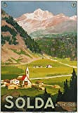 TV18 Vintage 1920's Italy Italian Solda Sulden Tyrol Travel Poster Re-Print - A3 (432 x 305mm) 16.5