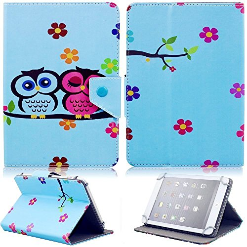 Tsmine - Custodia flip per Alcatel Tablet PC Owl Baby Alcatel One Touch PIXI3 7""