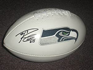 Buy Russell Wilson Seattle Seahawks Signed Autographed Logo Football with Certificate of Authenticity...
