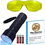 #1 UV Blacklight Cat Dog Urine Detector Kit - Full Price Real Reviews - (21 LED UV Black Light, Batteries, UV Glasses, Guide) - Use For Detecting Dry Pet Pee Stains - Powerful UV 21 LED Black light Flashlight with 3 High Drain Alkaline Batteries Included, UV Glasses with Yellow Tint and Quick Start Guide - Cat Urine Detection, Odor Remover, Causes and Solutions
