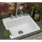 Cheap Advantage Hopkinton Single Bowl Self Rimming Kitchen Sink Finish: Linen- Faucet Drillings: Five Holes With Discount