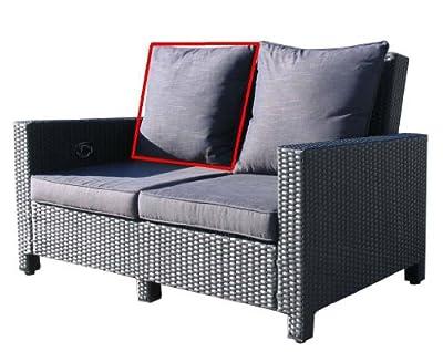 Rückenkissen 60x60x19cm Schwarz zu 2er Lounge Sofa von Famous Home auf Gartenmöbel von Du und Dein Garten