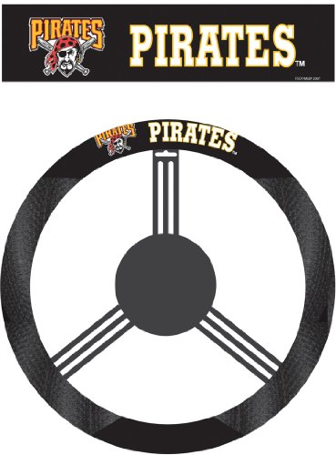 MLB Pittsburgh Pirates Poly-Suede Steering Wheel Cover at Amazon.com