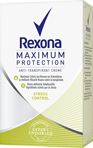 Rexona, Deodorante crema da donna Stress Control Maximum Protection, 3 pz., 45 ml