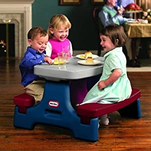 "Sized Right For Younger Children, This Indoor/Outdoor Table ""Unlocks"" And Folds For Portability Or Storage - Endless Adventures Easy Store Jr. Play Table"