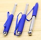 伸縮 式 打音 診断 打診 棒 5段階 ステンレス 管 最長 1m 収納時 24cm ゴム グリップ 3色 (青 ブルー)
