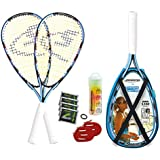 Speedminton Set S200 im X-Back Pack INCL Easy Court, Schwarz/Blau/Weiß, 400084
