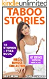 TABOO: 12 MEGA COLLECTION BUNDLE (Man of the House, Stepbrother, Brat, Menage, Forbidden Taboo Stories)