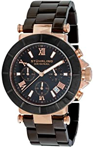Stuhrling Original Men's 512.332Q941 Le Mans Sportsman Quartz Chronograph Black Dial Watch