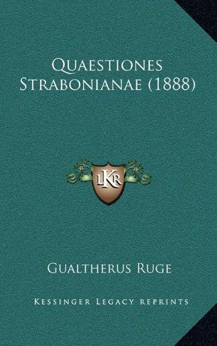Quaestiones Strabonianae (1888)