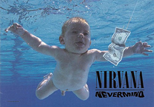 Heart Rock Licensed Bandiera Nirvana - Nevermind, Tessuto, Multicolore, 110X75X0,1 cm