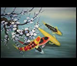 Modern Abstract Art Chinese Koi Fish Feng Shui Painting 16