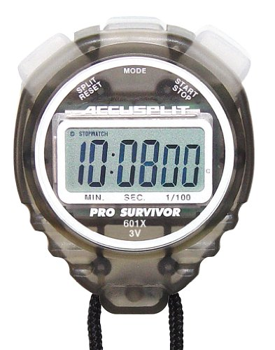 ACCUSPLIT Pro Survivor - A601X Stopwatch, Cum Split, Clock, Extra Large Display