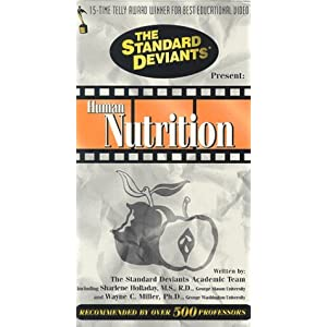 51T1X46S7GL. SL500 AA300  The Standard Deviants: Human Nutrition [VHS]