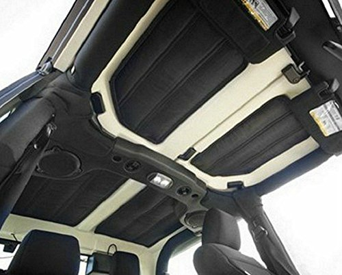 2 pcs Gray Hardtop Sound Deadener & Insulation For Jeep Wrangler JK Sahara Rubicon 2 Door 2012-2016 (Alien Gas Tank compare prices)