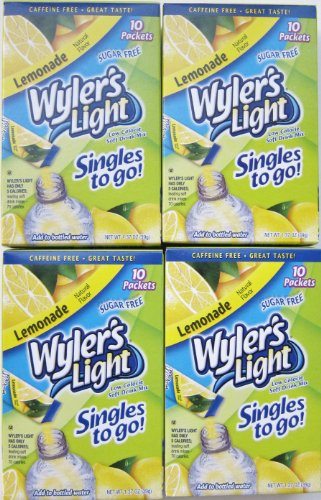Wyler's Light Lemonade Singles to Go (10 Packets Each Box) Four Boxes
