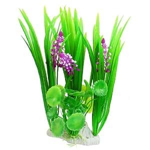 Uxcell plastic fish pond manmade plants 8 3 for Plastic pond plants