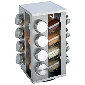 Chef Secret 16 Jar S S Rotating Spice Rack by Chef's Secret
