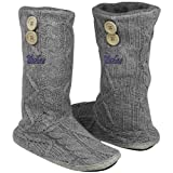 NCAA UCLA Bruins Women's Two-Button Cable Knit Boots - Gray (7/8) at Amazon.com