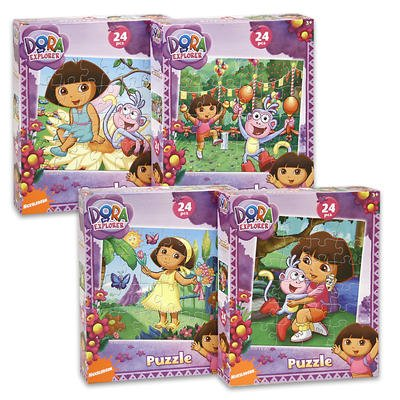 Cheap Nick Dora the Explorer 24-Piece Jigsaw Puzzle, A Set of 4 Puzzles (B0036PVAL4)